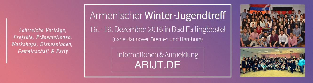 Armenischer Winter Jugendtreff 2016, Flyer